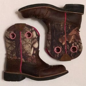 Ariat Fatbaby Camo Cowgirl Boots sz 7